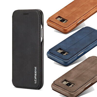 AU17.99 • Buy For Samsung Galaxy S8 + NOTE8 S9+ S10e Case Leather Card Holder Flip Stand Cover