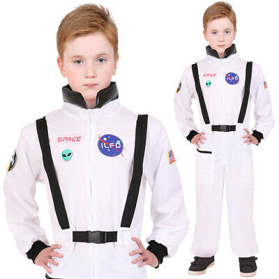 £12.99 • Buy Kids Astronaut Costume Boys Girls Spaceman Jumpsuit Childs Fancy Dress Outfit