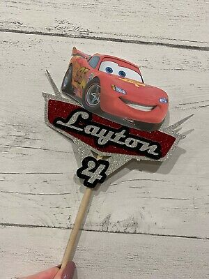 Personalised Cars Theme Cake Topper, Birthday, Party, Cake Decor, • 8£