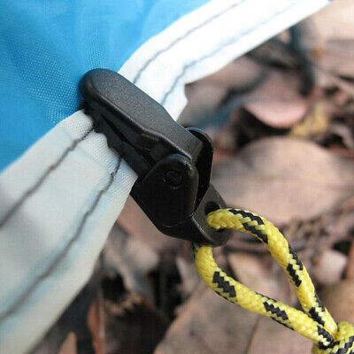 20x Reusable Tent Tarp Tarpaulin Clip Clamp Buckle Camping Tool Heavy Duty UK • 6.18£