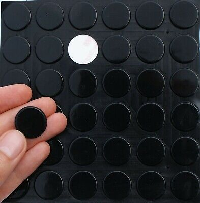 £4.45 • Buy Large Black 3M RUBBER FEET ~ Sticky SELF ADHESIVE Silicone FLAT Pads, 20mm X 2mm