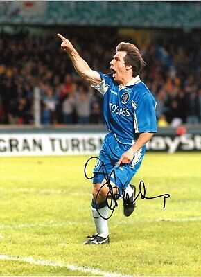 Gianfranco Zola Chelsea 16 X 12 Inch Hand Signed Authentic Football Photo SS075A • 29.99£