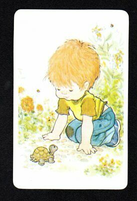 AU3 • Buy SARAH KAY Swap Card - Young Boy With Turtle (BLANK BACK) (MINT)