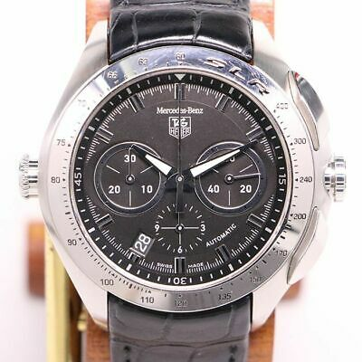 £1907.33 • Buy TAG Heuer SLR CAG2110 Quartz Black Stainless Leather Round Chronograph 45mm Mens