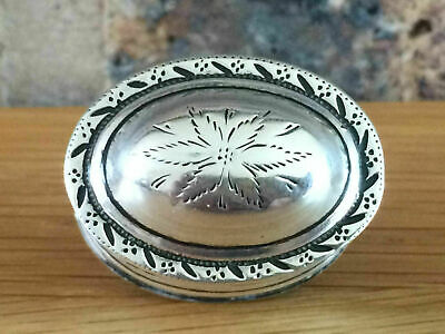 Antique 1801 Georgian Silver Floral Engraved Oval Nutmeg Grater Thomas Willmore • 875£