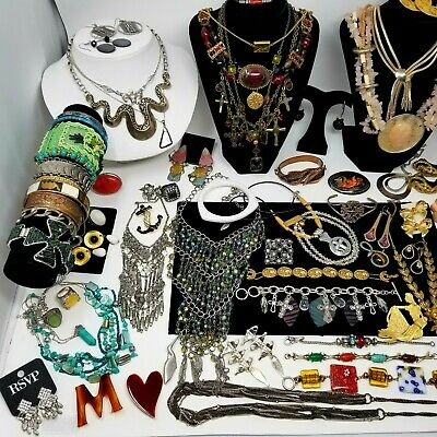 $ CDN246 • Buy Huge Vintage&Mod Jewelry Lot -Chico's,Judy Lee,Coldwater Creek,Trifari,M.Negrin