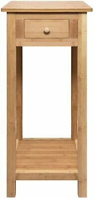 £34.99 • Buy Hygrad Bamboo Tall Side Bedroom Living Room End Table With Drawer & Lower Shelf