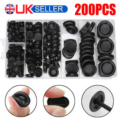 £9.99 • Buy 200PCS Assorted Size Rubber Blanking Grommets Open/Closed Blind Plug Wiring Bung