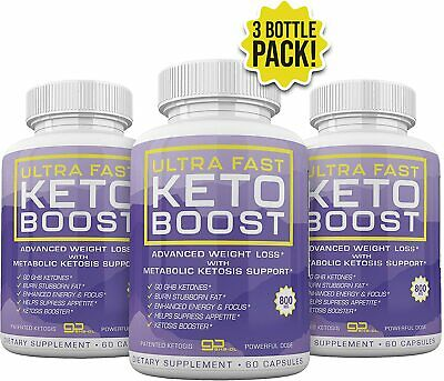 $50.95 • Buy Ultra Fast Keto Boost 3 Month Supply 180 Capsules **fast Shipping**