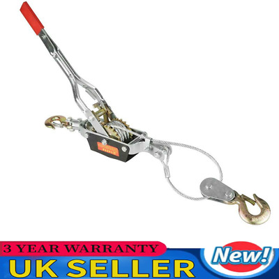 £22.97 • Buy 4ton 2 Hook Cable Puller Hand Winch Turfer Ratcheting For Caravan Boat Trailer