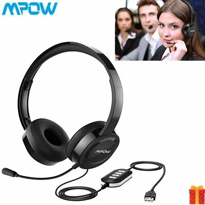 Mpow USB Noise Cancelling Microphone Headset Call Centre Office Telephone Corded • 21.99£