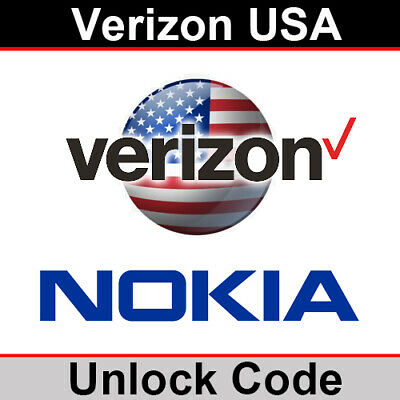 Verizon USA Nokia Unlock Code • 10.95£