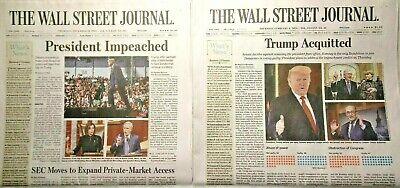 $39.99 • Buy Wall Street Journal Newspaper Donald Trump IMPEACHED/ACQUITTED, Trump 2020, MAGA