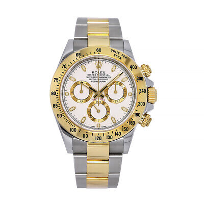 $ CDN20649.36 • Buy Rolex Cosmograph Daytona Stainless Steel And Gold Index White Dial 40MM Watch