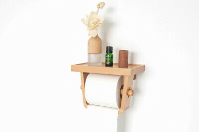 AU30 • Buy Wooden Bamboo Bathroom Toilet Paper Roll Holder Rack W Phone Top Shelf Storage
