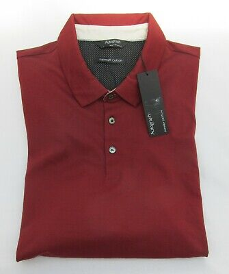 Men's Marks And Spencer Autograph Russet Supima Cotton Polo Shirt Size L • 14.99£