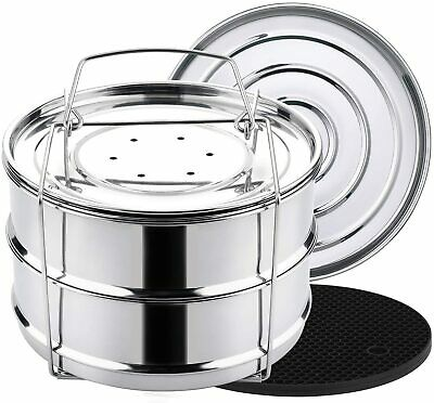 $39.99 • Buy Aozita 3 Quart Stackable Steamer Insert Pans - Accessories For Instant Pot Mini