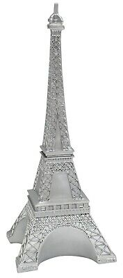 30cm Tall Eiffel Tower Monument Resin Silver Ornament Mantelpiece Display • 11.99£