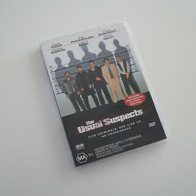 AU5.50 • Buy The Usual Suspects - Kevin Spacey, Gabriel Byrne, Pete Postlethwaite - DVD