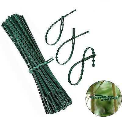 £5.95 • Buy 100 Garden Plant Twist Ties Shrub Flexible Plastic Plant Support Home Cable Tie