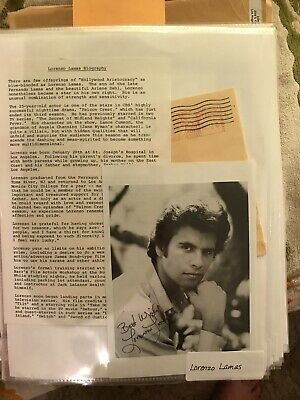 Photo Lorenzo Lamas, Autograph Signed Actor B/w • 11.10£