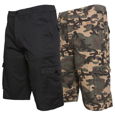 $19.88 • Buy Mens Cargo Cotton Shorts Work Casual Relaxed Fit Pocket