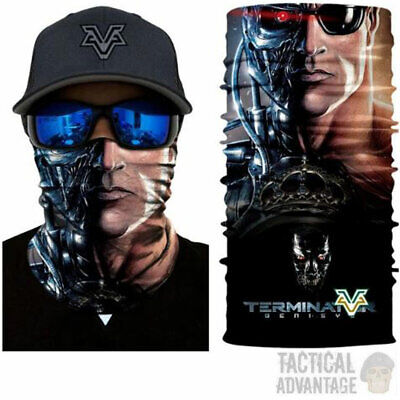 Terminator Multi Function Scarf Snood Bandana Airsoft Face Mask Head Cover Hat  • 7.95£