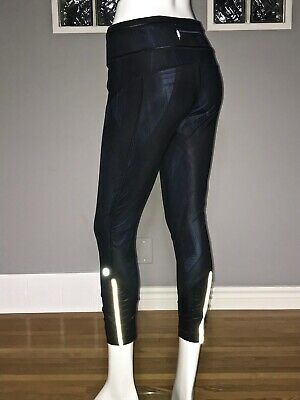$ CDN80 • Buy Lululemon Pace Queen Tight 6 Wind Chill Deep Navy Black 7/8 Pant Shine Ruching