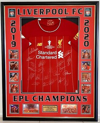 AU1199 • Buy Liverpool Fc English Premier League Champions 2019/2020 Signed Framed Jersey