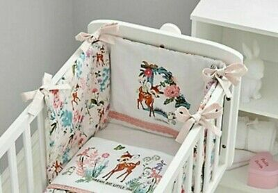 £9.95 • Buy Disney Bambi Cot Bumper 100% Cotton Baby Safety Bedding Girls Pink Breathable
