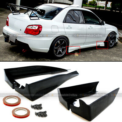$59.99 • Buy For 02-07 Impreza WRX STI JDM Style Front Rear Cap Side Skirt Guard Strake Spats