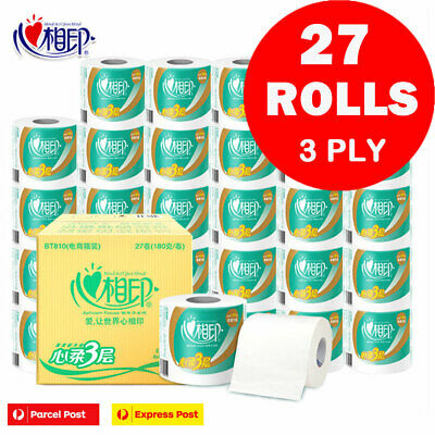 AU49.95 • Buy 27 X LARGE ROLL TOILET PAPER TISSUE ROLLS SOFT 3 PLY 240 SHEETS VALUE PACK