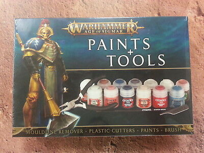 Warhammer Age Of Sigmar Paints And Tools Set - New • 21.95£