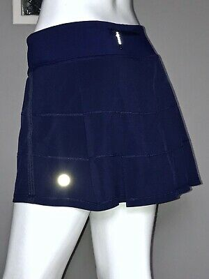 $ CDN61.20 • Buy Lululemon Pace Rival Skirt 10 Hero Blue Back Pleats Euc