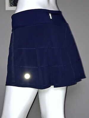 $ CDN68 • Buy Lululemon Pace Rival Skirt 10 Hero Blue Back Pleats Euc
