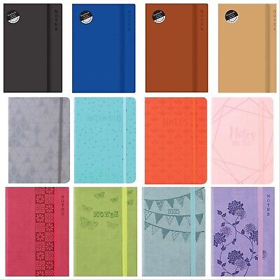 A5/A6  New Soft Touch Lined Notepad Notebook  Notes  200 Page Journal Diary • 4.99£