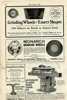 $ CDN24.49 • Buy Grinding Wheels Emery Shapes Automatic Planer Knife Grinder 1909 Magazine Ad