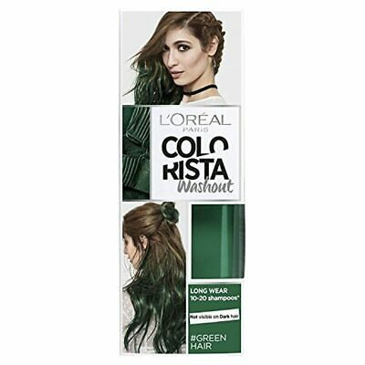L'Oreal Paris Colorista Washout Green Semi-Permanent Hair Dye 80ml • 5.90£