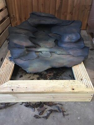 Garden Pond Water Feature Rockways Rustic Slate 1 Piece Water Cascade With Pump • 149.99£