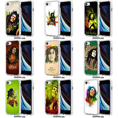 BOB MARLEY JAMAICA REGGAE SINGER PHONE CASE COVER TPU APPLE IPhone BOB00 • 4.59£