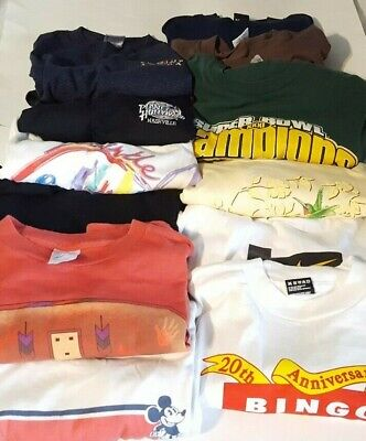$ CDN47.52 • Buy Lot Of 12 Vintage T-Shirts(Mickey Mouse,Nike,Lee Sport,Single Stitch,Made In USA