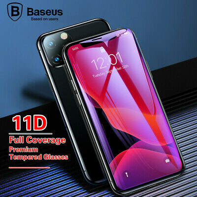 AU4.95 • Buy Baseus 11D Full Curved Tempered Glass Protector For IPhone6/7/8 Plus Xs /11 Pro