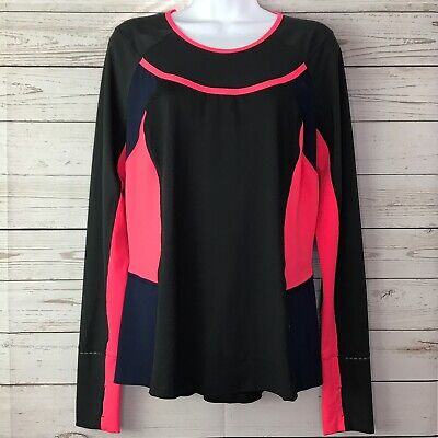 $ CDN59.99 • Buy Lululemon Trail Bound Long Sleeve Top Womens Size 12 Coal Navy Coral Luxtreme