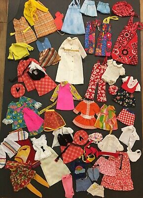 $ CDN127.91 • Buy Large Lot Of Vintage 1960s & 1970s Skipper & Fluff Clothing Mod BARBIE