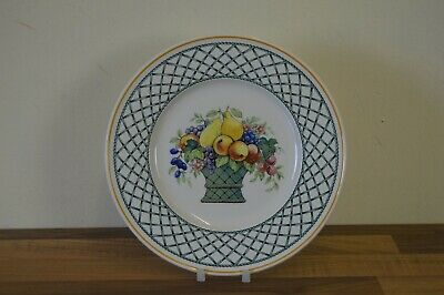 Villeroy & Boch Basket 26.5 Cm / 10.5  Dinner Plate (E) Brown Back Stamp • 15£