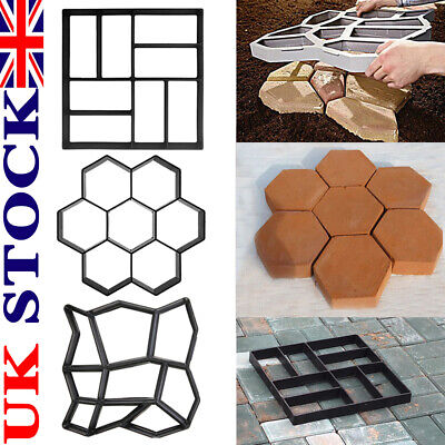 Garden Paving Pavement Mold Patio Concrete Stone Path Walk Maker Reusable Mould • 8.99£