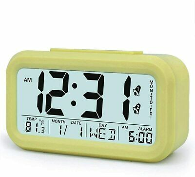 AU17.99 • Buy Digital LCD Alarm Clock Battery Operated With Snooze, Optional Weekday Alarm And