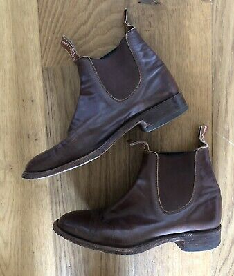 AU179 • Buy Rm Williams Mens Brown Leather Boots- Size 9 H