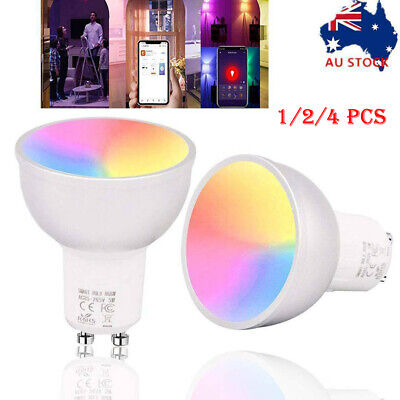 AU20.99 • Buy GU10 LED Bulb WiFi Smart Light App Remote Control Lamp For Alexa Google Home