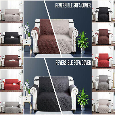Quilted Sofa Cover Furniture Protector Throw Waterproof Sofa Slip Covers 3 Size • 11.99£
